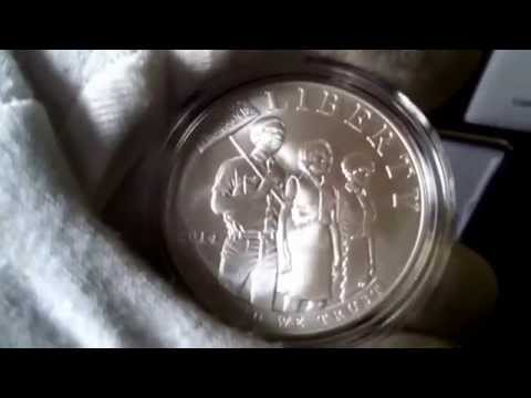 2014 Civil Rights Act of 1964 Proof & Uncirculated Silver Dollar w/ 2014 ASE Proof & BU Coin