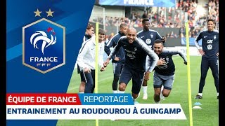 L'entraînement des Bleus à Guingamp, Equipe de France I FFF 2018