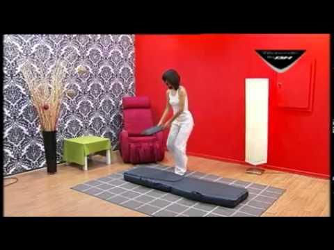 Tecnovita cama de masaje shiatsu youtube for Canape para cama 150