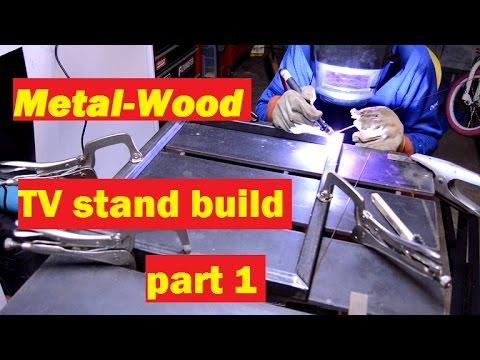 Metal-Wood TV stand build part 1