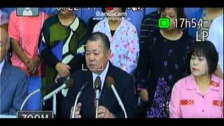 沖縄県名護市市長選挙立候補記者会見(島袋吉和)2013/10/30(水)11:00~