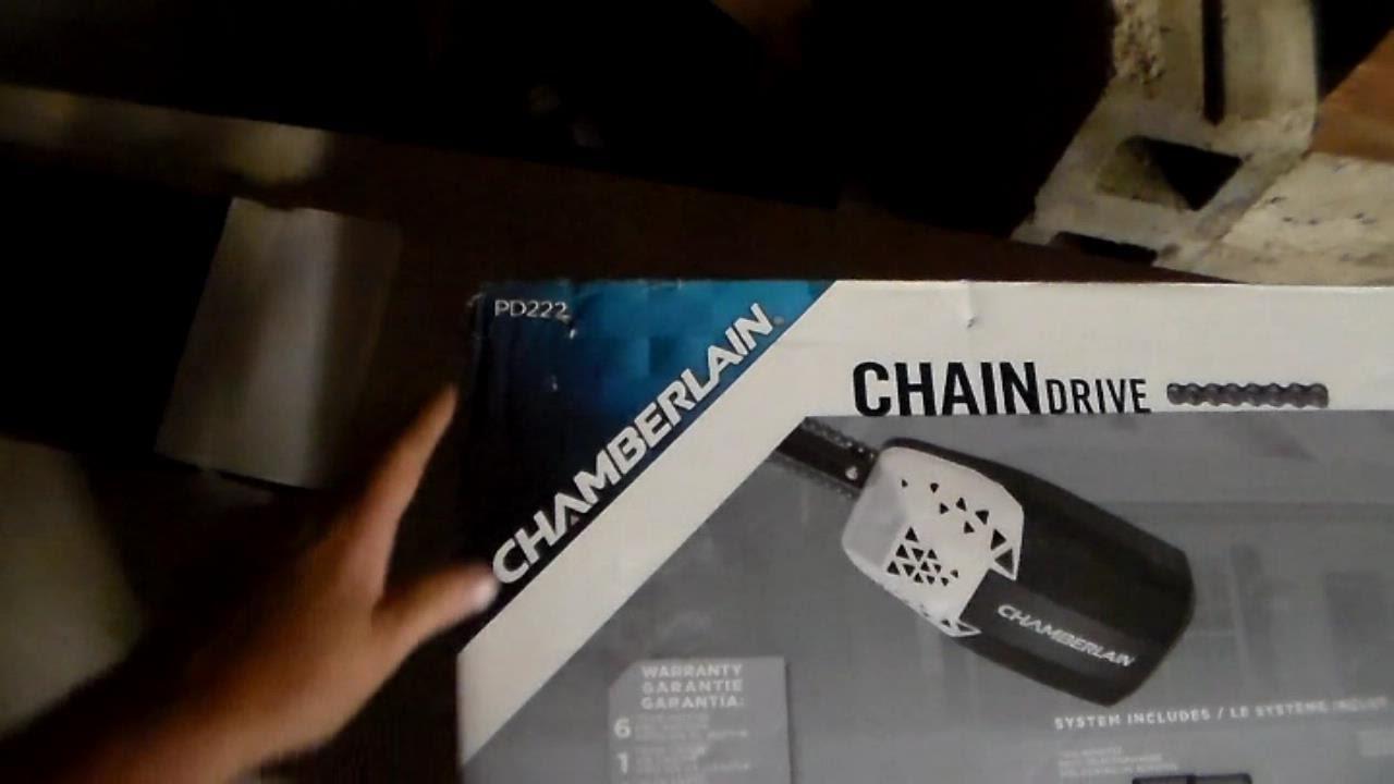 Chamberlain pd222 garage door opener install youtube - Install chamberlain garage door opener ...