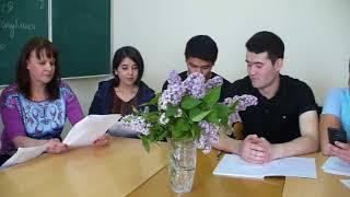 Урок русского языка, посвященный Дню Победы, для студентов из Узбекистана и Египта.