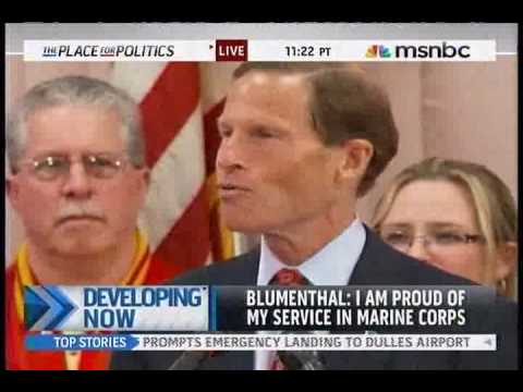 "Richard Blumenthal: ""I Served in the U.S. Marine Corps Reserves, I Misspoke on a Few Occasions"""