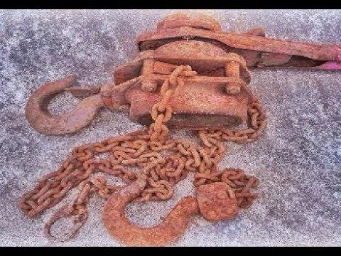 Restoration Old Palang Chain Machine | Rusty Chain Winch | Construction Machinery Restoration