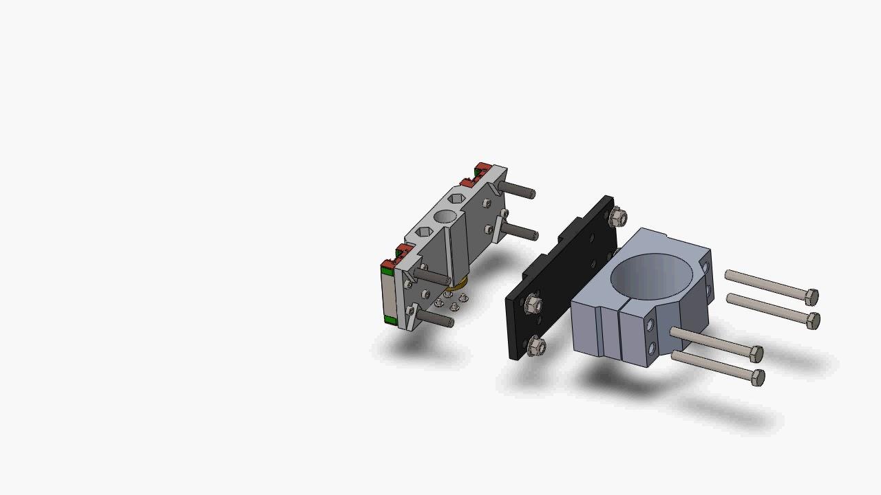 Easy exchange tool holder plates for Root CNC 3 by Manuel Rejen