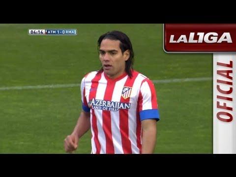 Gol de Falcao (1-0) en el Atlético de Madrid - Real Madrid - HD
