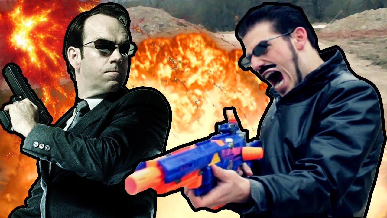 MATRIX NERF GUN FIGHT - So würde der Matrix Endfight gegen Agent Smith aussehen wenn beide Nerf Guns benutzt hätten.