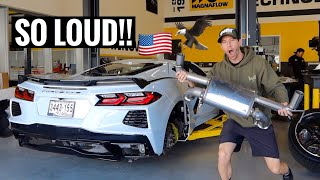 MAKING AN EXHAUST FOR MY C8 CORVETTE!!