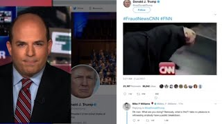 Trump posts anti-CNN video on Twitter