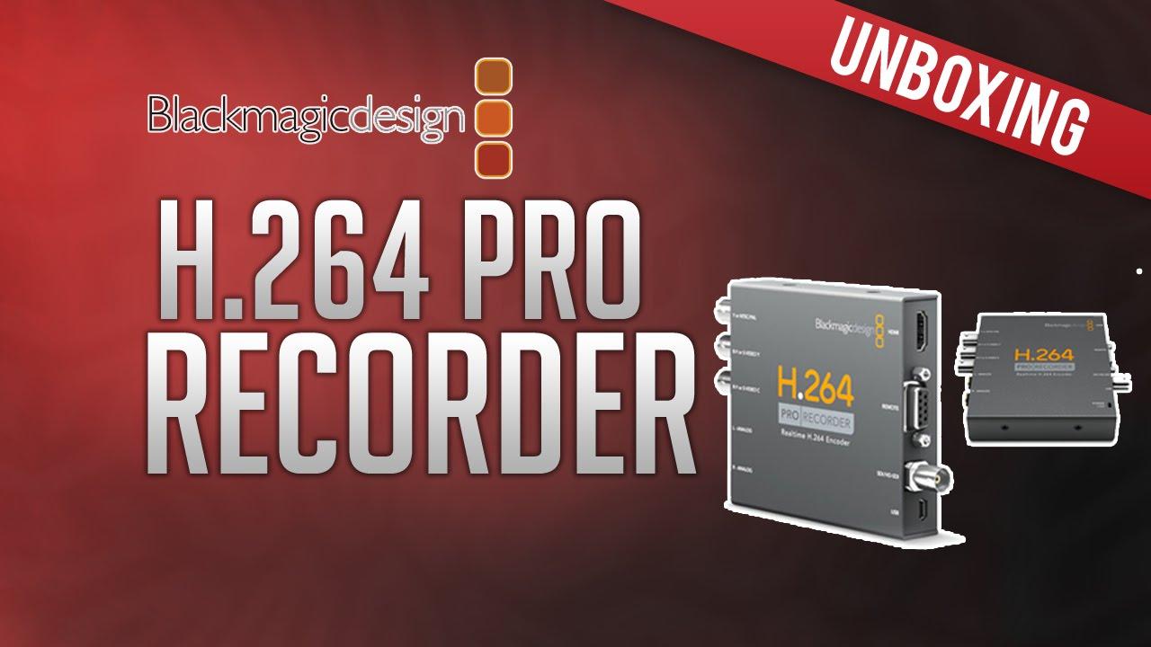 Unboxing Blackmagic H 264 Pro Recorder Youtube