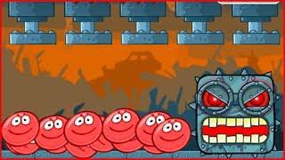 99999 Красных ШАРОВ ПРОТИВ 1 БОССА в игре красный шарик  для детей про New Red Ball 4