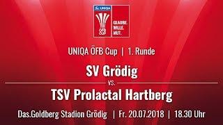 20.07.2018 |18:30 |SV Grödig vs TSV Prolactal Hartberg (UNIQA ÖFB Cup |1. Runde |18/19)