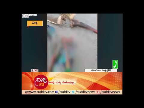 Police Officials Ignore an Accident Victim In Mandya | ಸುದ್ದಿ ಟಿವಿ
