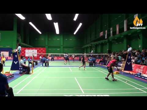 SemiFinal BS  Vitidsarn Kunlavut  Thailand - Japan Midorikawa Hiroki - Badminton Asia Junior 2014