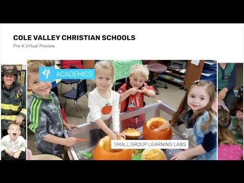 Pre K Virtual Preview - Cole Valley Christian Schools