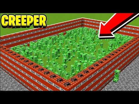 1000 CREEPERS MONSTERS INDUSTRIES REMASTERED - Modded Minecraft Minigame