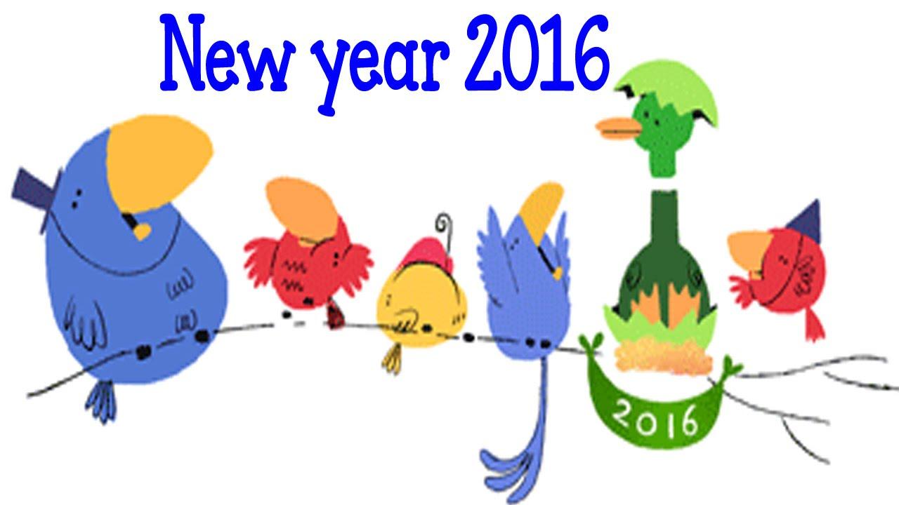 new year 2016 google doodle youtube