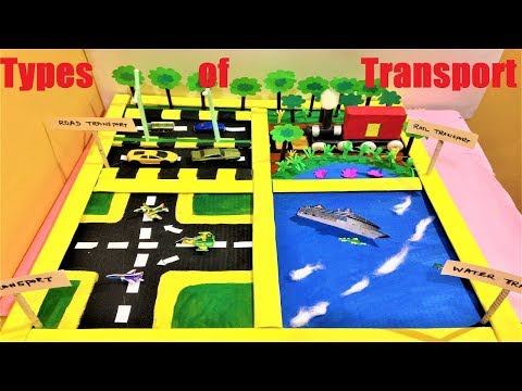 Types of Transport school project model for science