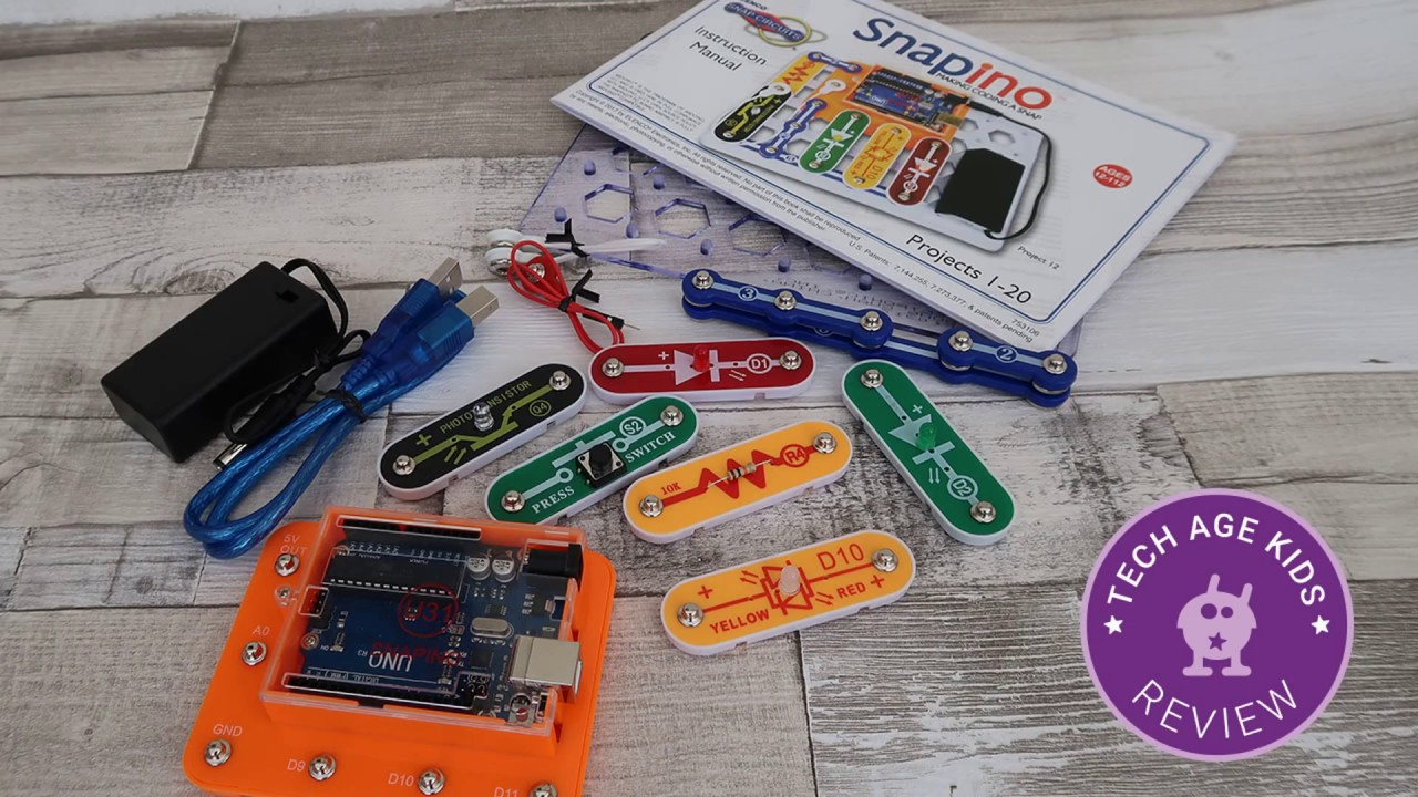 Snap Circuits Snapino Arduino Review Youtube Pro Sc500