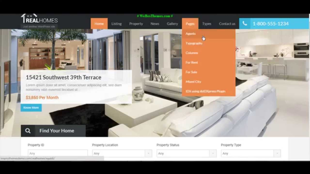 Hot real homes wordpress real estate premium theme with demo hot real homes wordpress real estate premium theme with demo themes youtube pronofoot35fo Image collections
