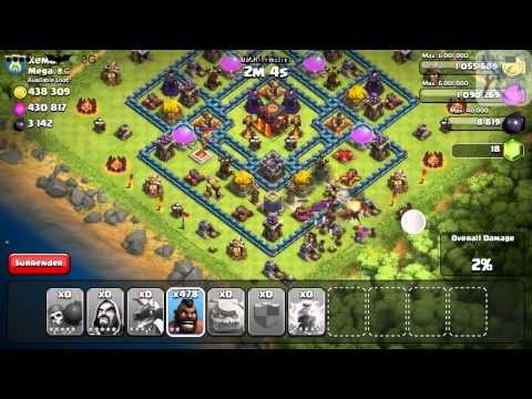 Clash of Clans iModGames and Gameplayer Attack 3 ! Kemal 500 HOGS !!!