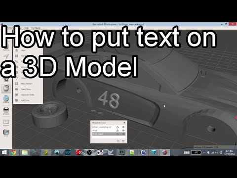 Adding Text to 3D Models - 123D Design and Meshmixer