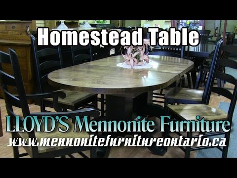 Mennonite Homestead Table, Mennonite Kitchen Furniture Gallery Woodbridge Ontario.