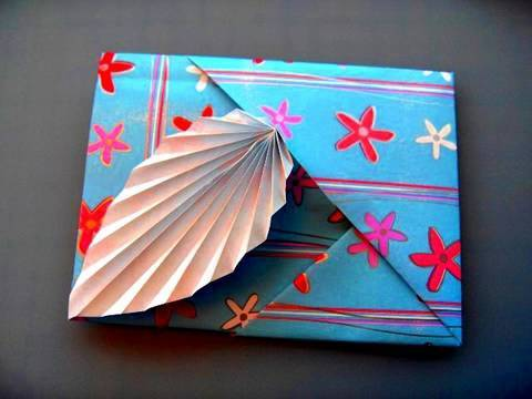 How to make an Origami Leaf Card YouTube – How to Make Origami Birthday Cards