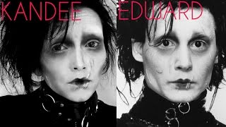 Edward Scissorhands  Make-Up Tutorial | Kandee Johnson
