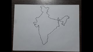 How to draw the correct map of India by hand