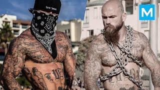 Tattooed Workout Monster - Chris Luera | Muscle Madness
