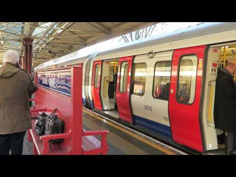 London Underground Piccadilly and District Line Trains At Barons Court 24 January 2017