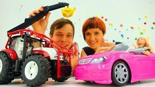 МАШИНКИ! Барби и Маша КАПУКИ КАНУКИ в автосалоне! Видео с игрушками для детей: выбираем машины!