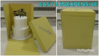 How to deliver tiered cakes and heighted cakes   DIY cake box   LOW COST delivery cake box