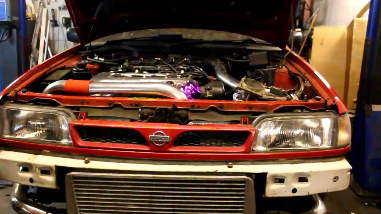 SR20DET FWD conversion start up! Nissan Sunny - YouTube