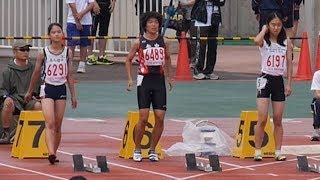 20140705 群馬県中学通信陸上 女子3年100m 決勝 奥村ユリ 検索動画 30