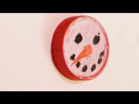How to Paint Snowmen Faces on Jar Lids : Art Tutorials