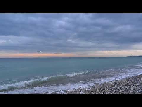 Изумрудное море, чайки!) Погода в Лазаревском, Сочи 14 марта 2018. Пляж санатория \