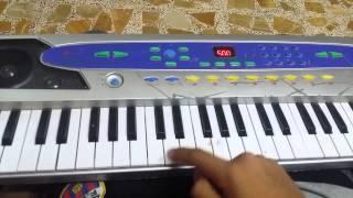 تعلم عزف اغنية انتي باغية واحد على البيانو