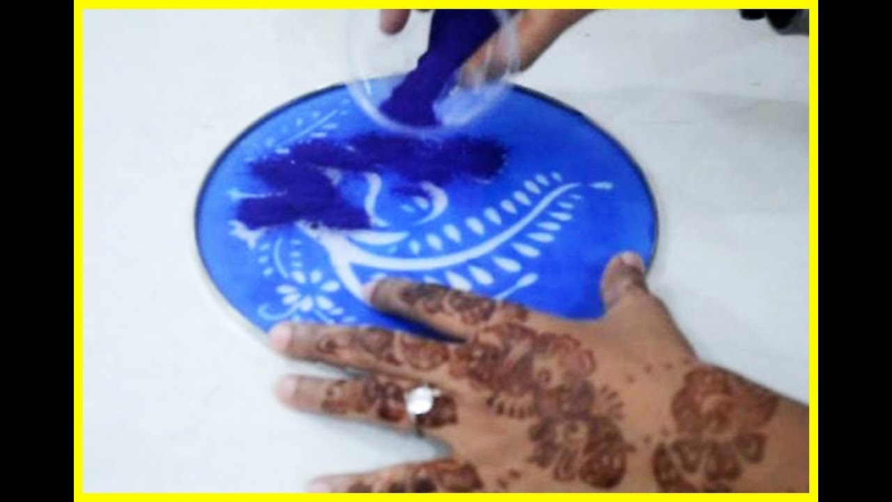 Simple and Easy Rangoli Designs For Home - YouTube