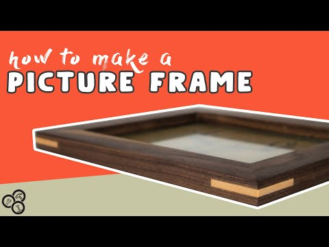 How to Make a Picture Frame with Splines | DIY