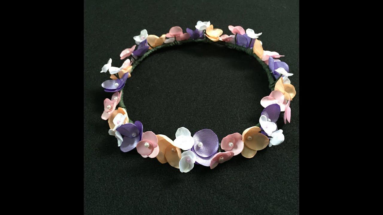 Diy fabric flower crown tutorial youtube diy fabric flower crown tutorial izmirmasajfo Gallery