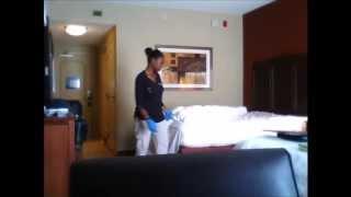 Ecco cosa combina questa domestica mentre fa le pulizie in albergo!