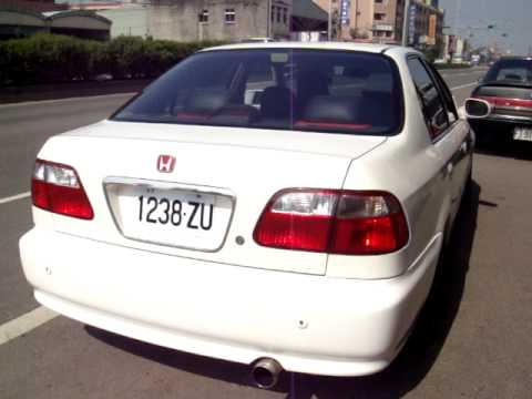 JS排氣管~Honda 本田 Civic 喜美 K8改200目金屬觸媒+中尾段89MM排氣管 (聲音檔) - YouTube