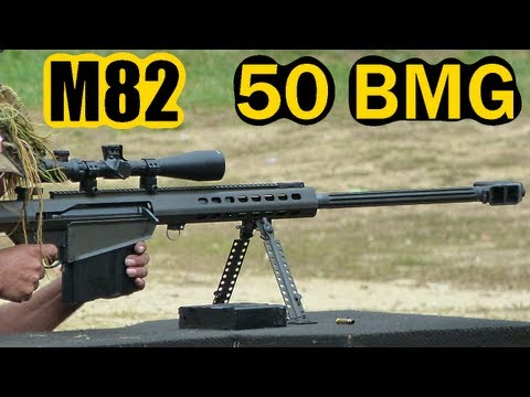 Barrett M82 Shooting (.50 Cal) w/Slow Motion