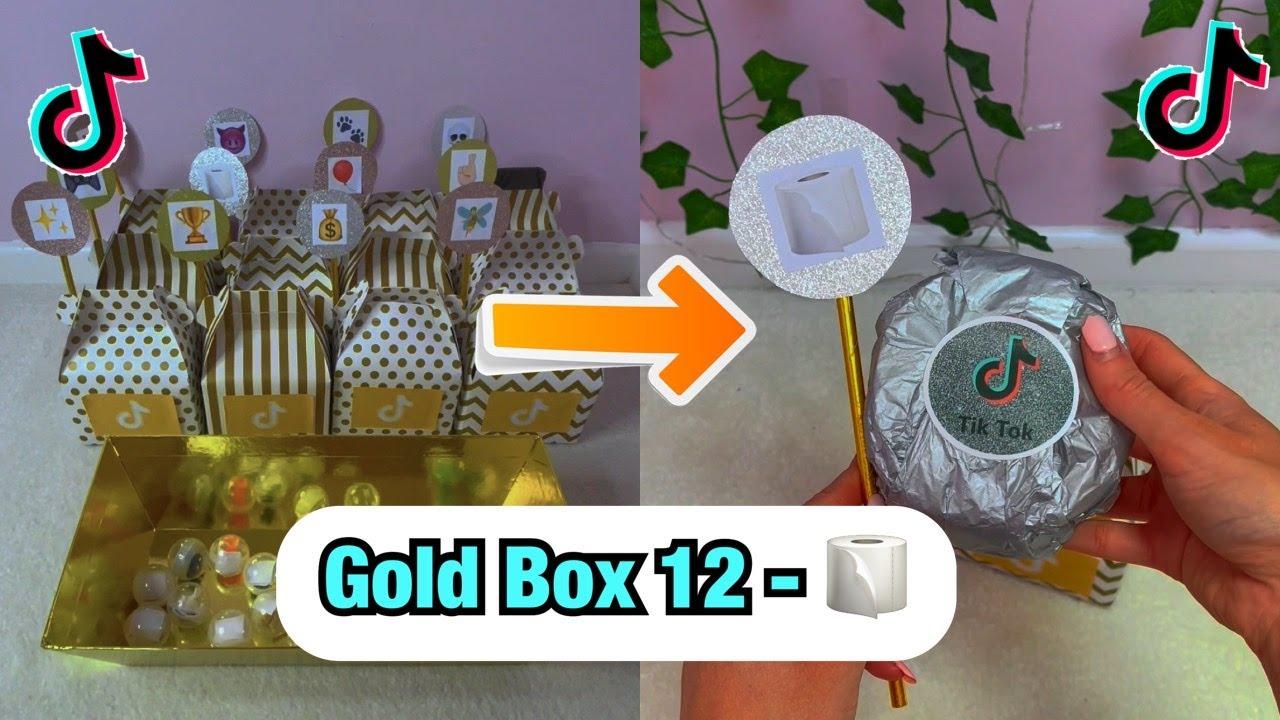 TikTok Mystery GOLD Boxes - Box 12!🧻 #Shorts