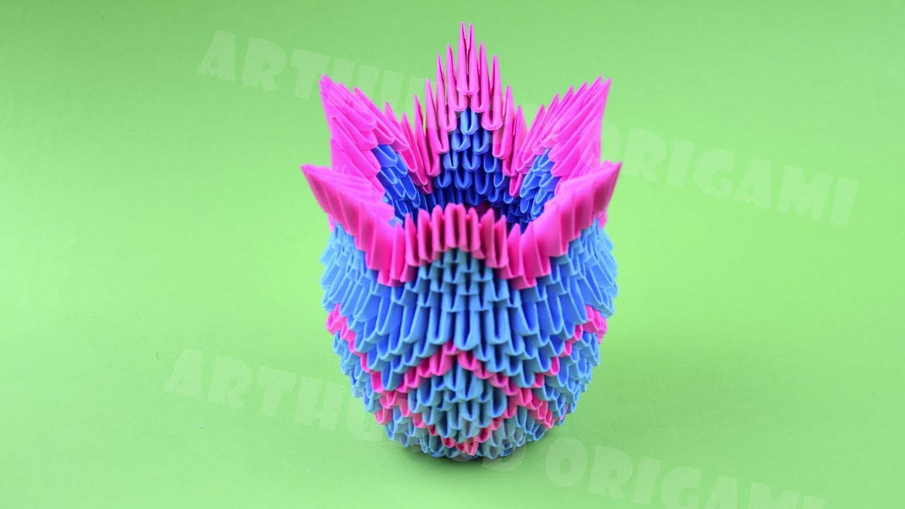 Origami Vase From Pieces Of Paper Diy How To Make An Origami Vase 3d Tutorial