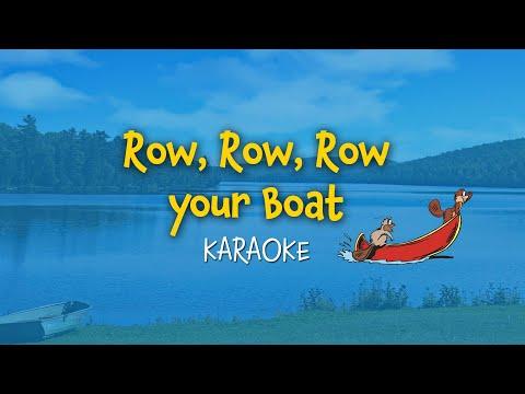 Row, Row, Row your boat (instrumental - lyrics video for karaoke)