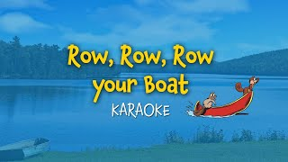 Row, Row, Row your boat (instrumental - lyrics video for karaoke)